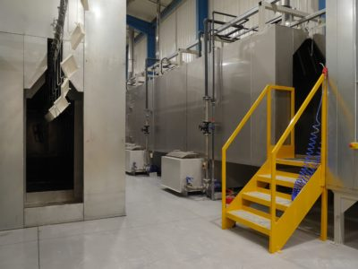 Unifabs Ltd expand their facility with extensive investment in an industrial powder coating system