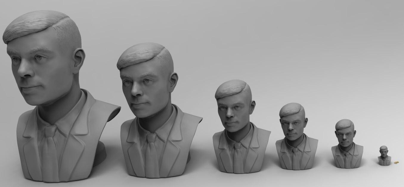 Digital 3D model created from a high resolution 3D scanner at Systems 3D