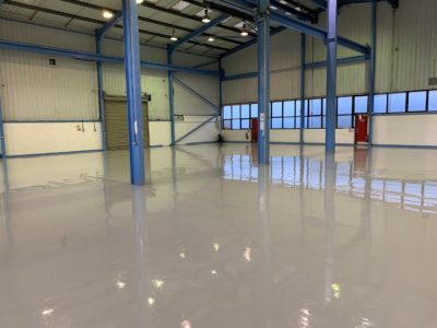 Adding value to property with commercial epoxy flooring