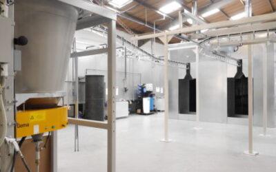 Powder Coating Equipment Manufacturers | td finishing update Recol Ltd's powder coating facility